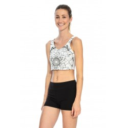 Atma Crop Top - B&W Mandala